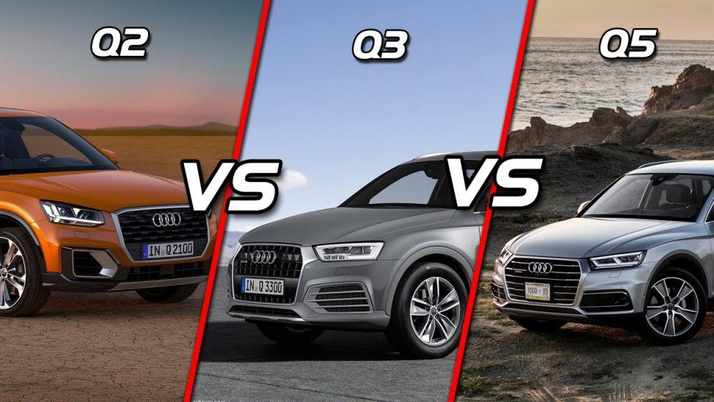 Audi Q2 vs Q3 vs Q5