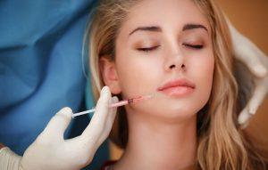 woman taking part in botox training