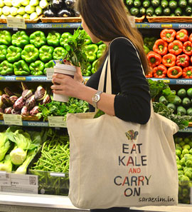 Use Eco Friendly Custom Printed Reusable Bags For Shopping